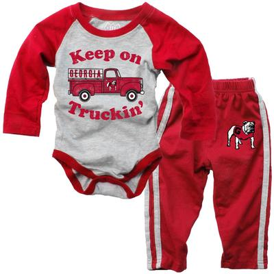 Georgia Infant Keep on Truckin' Long Sleeve Onesie Pant Set