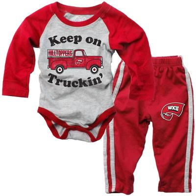 Western Kentucky Infant Keep on Truckin' Long Sleeve Onesie Pant Set