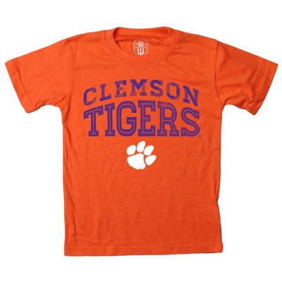 Clemson Boy's Inline Arched Short Sleeve Tee
