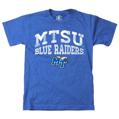 MTSU Youth Inline Arched Short Sleeve Tee