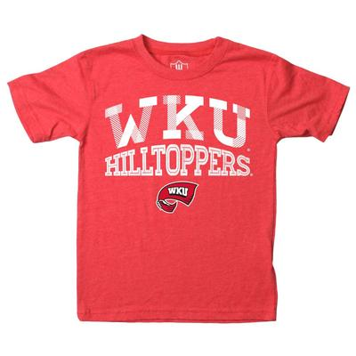 Western Kentucky Youth Inline Arched Short Sleeve Tee