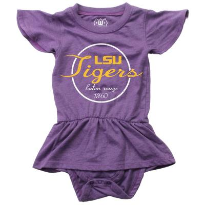 LSU Infant Flutter Sleeve Onesie
