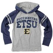 Etsu Boy's Inline Arched Long Sleeve Hooded Raglan