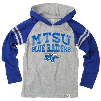 MTSU Boy's Inline Arched Long Sleeve Hooded Raglan
