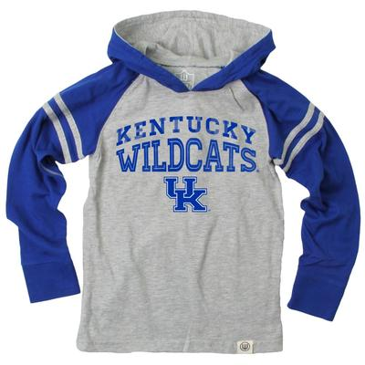 Kentucky Boy's Inline Arched Long Sleeve Hooded Raglan