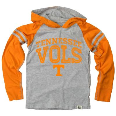 Tennessee Boy's Inline Arched Long Sleeve Hooded Raglan