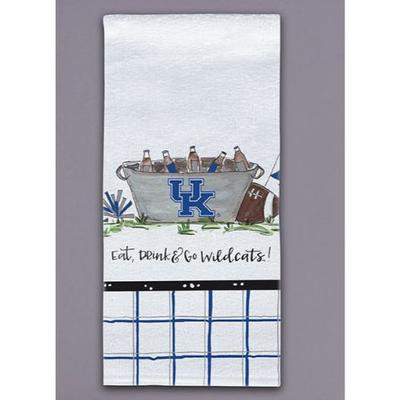 Kentucky Magnolia Lane Eat, Drink, Go Wildcats Hand Towel
