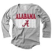Alabama Girl's Burnout Long Sleeve Tee