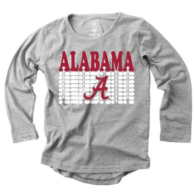 Alabama Girl's Burnout Long Sleeve Tee