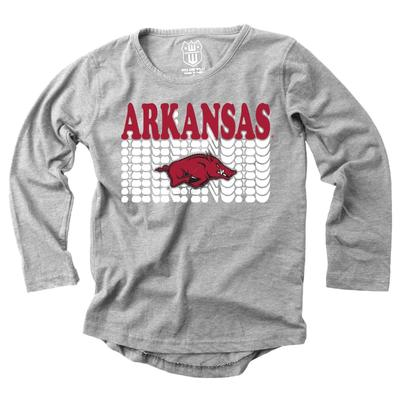 Arkansas Girl's Burnout Long Sleeve Tee
