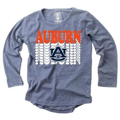 Auburn Girl's Burnout Long Sleeve Tee
