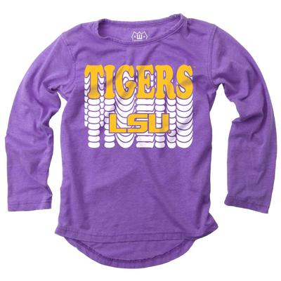 LSU Girl's Burnout Long Sleeve Tee