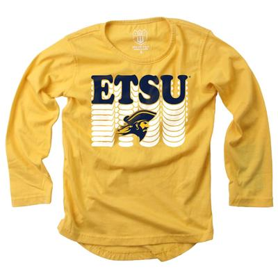 ETSU Girl's Burnout Long Sleeve Tee
