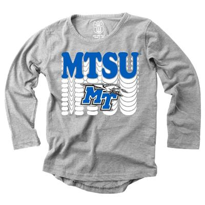 MTSU Girl's Burnout Long Sleeve Tee