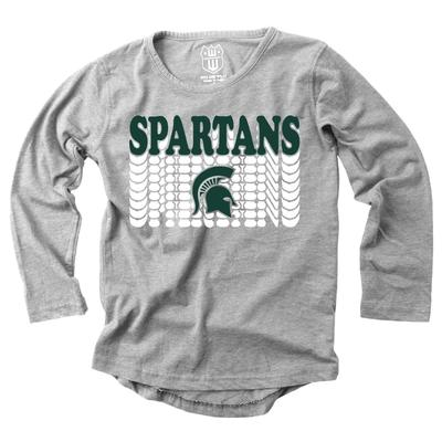 Michigan State Girl's Burnout Long Sleeve Tee