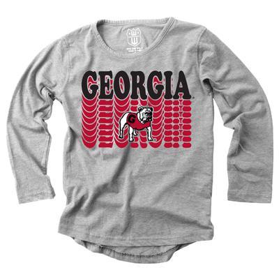 Georgia Girl's Burnout Long Sleeve Tee