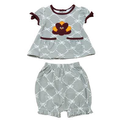 Gobbler Infant Girls Shirt/Bloomer Set