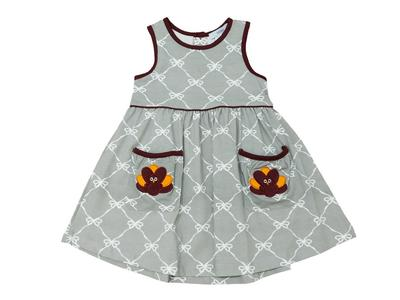 Ishtex Gobbler Toddler Girls Print Tank Dress