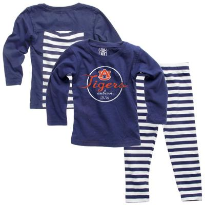 Auburn Infant Long Sleeve Stripe Top and Leggings Set