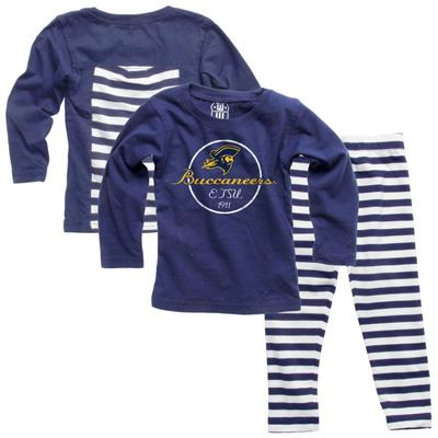 ETSU Infant Long Sleeve Stripe Top and Leggings Set