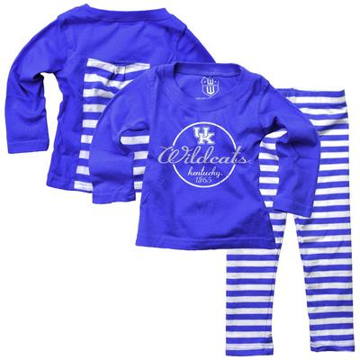 Kentucky Infant Long Sleeve Stripe Top and Leggings Set