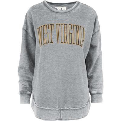 West Virginia Pressbox Bell Lap Vintage Wash Sweater