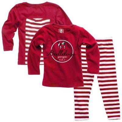 Georgia Infant Long Sleeve Stripe Top and Leggings Set