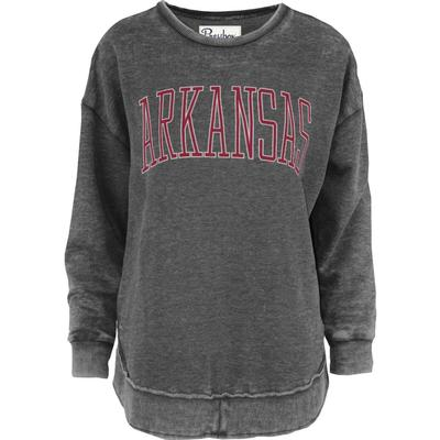 Arkansas Pressbox Bell Lap Vintage Wash Sweatshirt
