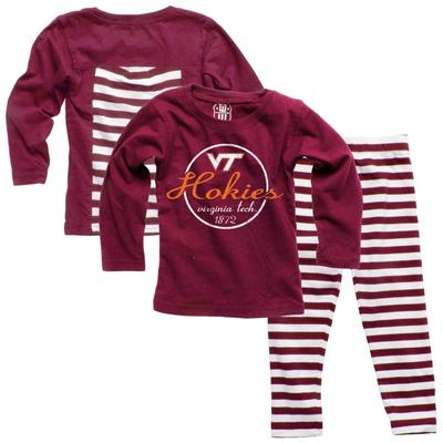 Virginia Tech Infant Long Sleeve Stripe Top and Leggings Set