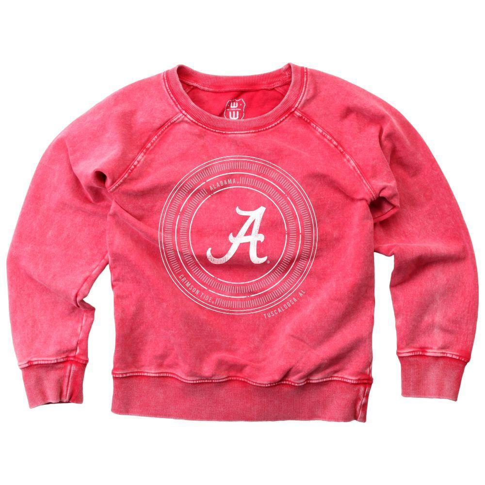 Alabama Girl's Faded Fleece Crew