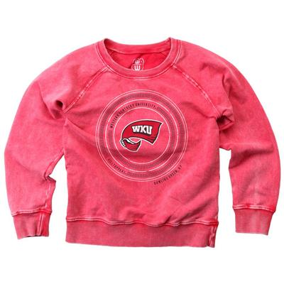 Western Kentucky Girl's Faded Fleece Crew