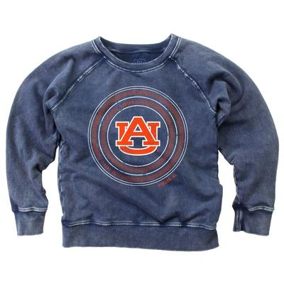 Auburn Girl's Faded Fleece Crew