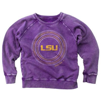 LSU Girl's Faded Fleece Crew