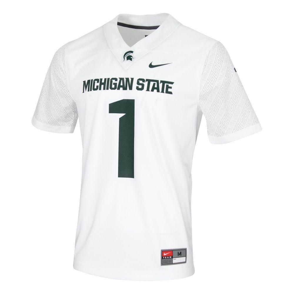 Michigan State Nike # 1 Replica Football Jersey