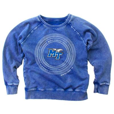 MTSU Girl's Faded Fleece Crew