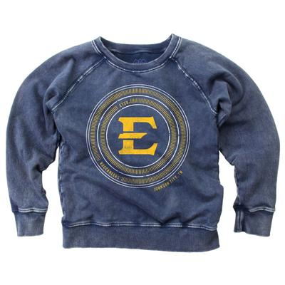ETSU Girl's Faded Fleece Crew
