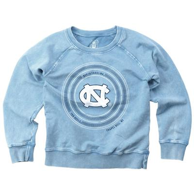 UNC Girl's Faded Fleece Crew