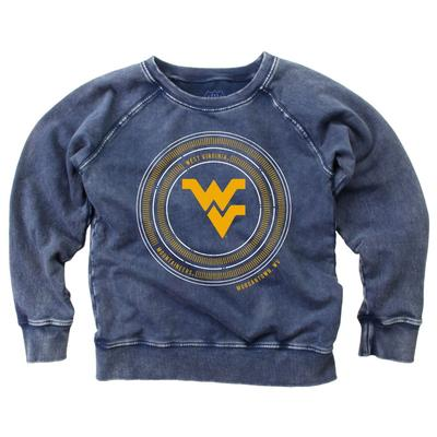 West Virginia Youth Faded Fleece Crew