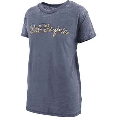 West Virginia Women's Pressbox Go Girl Vintage Wash Short Sleeve Tee
