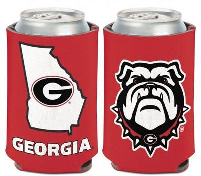 Georgia Dawg/State 12 oz. Can Cooler