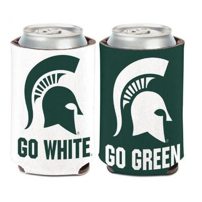 Michigan State Go Green, Go White 12 oz. Can Cooler
