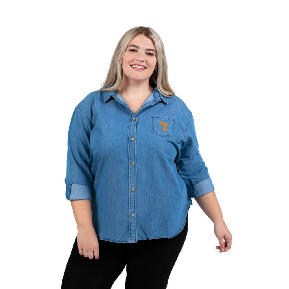 Tennessee Plus Size Women's Denim Shirt