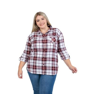 Virginia Tech PLUS SIZE Women's Boyfriend Plaid Shirt