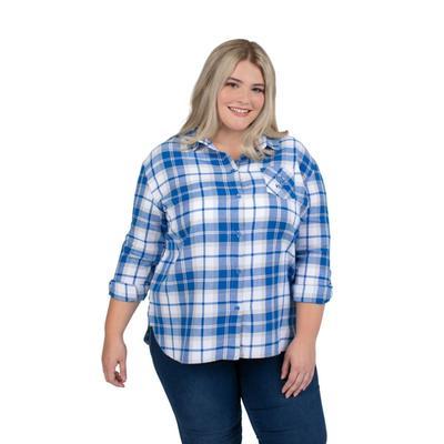 Kentucky PLUS SIZE Women's Boyfriend Plaid Shirt