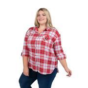 Georgia Plus Size Women's Boyfriend Plaid Shirt