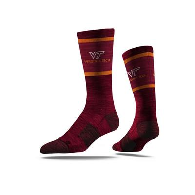 Virginia Tech Strideline Classic Crew Socks