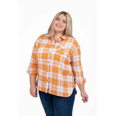 Tennessee PLUS SIZE Women's Boyfriend Plaid Shirt