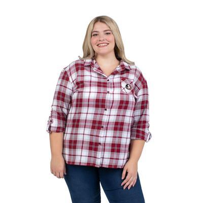 Florida State PLUS SIZE Women's Boyfriend Plaid Shirt