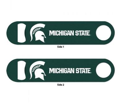 Michigan State 2 Sided Metal Bottle Opener