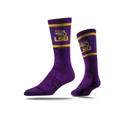 LSU Strideline Classic Crew Socks